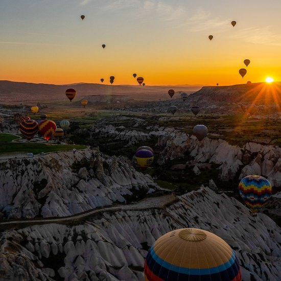 sunset in Cappadocia Hot Air Balloon Flight - Rozana Tours Luxury holiday package