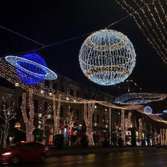 اجواء الليل في تبليسي
